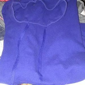 Exertek M cowl neck hoodie Navy